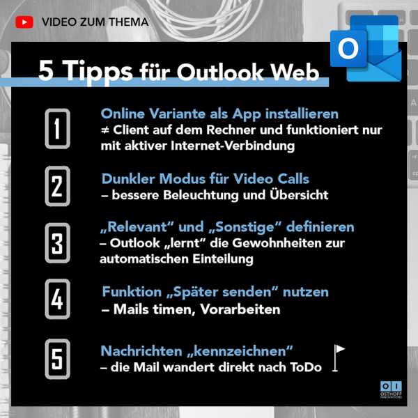 Mit Outlook Web schneller arbeiten, diese 5 Tipps werden genau hierbei helfen.